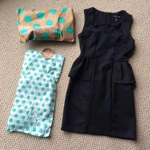F21 Peplum Black Dress